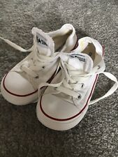 Girls Infant Size 10 White Converse Trainers