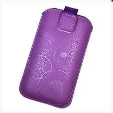 Housse Etui Pochette Protection façon cuir violet pour ALCATEL Pixi 4 (4)