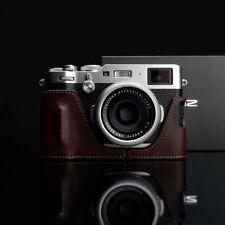 GARIZ HG-X100FBR Grip type Leather Half Case Bag Cover Brown For Fujifilm X100F