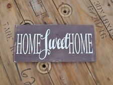 Handmade wooden sign. Home sweet home. farmhouse fixer upper style decor