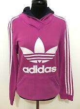 ADIDAS VINTAGE '80 Sweat-shirt Cppuccio Femme Coton femme Hodeed Pull M Sz. - 44
