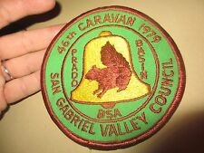 Vintage 1979 BSA San Gabriel Valley Council 46th Caravan PATCH ~ FREE SHIPPING !