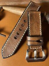 Handmade 26mm  Swiss leather Ammo watch strap. Pam Tubes