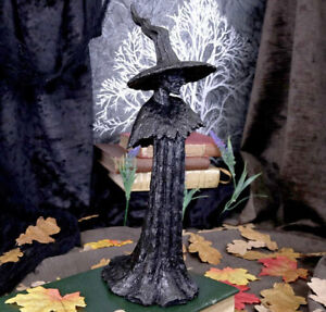 Pagan/Wiccan Talyse Black Glittered Forest Witch Ornament 30cm