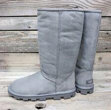 UGG Australia Womens ESSENTIAL Classic Tall GREY Sheepskin Boots US 9 NEW!