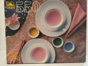 """Abstract Dining Golden 550 Piece Jigsaw Puzzle 18"""" x 15 1/2"""""""