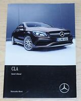 GENUINE MERCEDES BENZ CLA 2015-2018 AMG SPORT MANUAL HANDBOOK BOOK