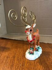Vintage Rudolph The Red Nosed Reindeer Figurine Photo Holder 6 Photos Jcpenney