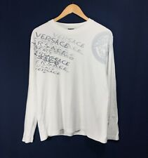 Men's VERSACE JEANS COUTURE White Long Sleeve Shirt T-Shirt Size - M