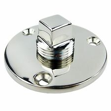 Stainless Steel Garboard Drain Plug for Boats Fits 1 Inch Diameter Hole