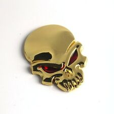 """3D EVIL SKULL Metal Sticker Decal 2-3/8"""" x 1-3/4"""" Car Truck Motorcycle Accessory"""