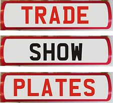 Magnetic Trade Show Plates Commercial Garage Dealer Car TRANSPORTER Breakdown