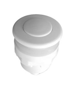 32mm White Push Air Switch Button For Bathtub Spa Waste Garbage Disposal