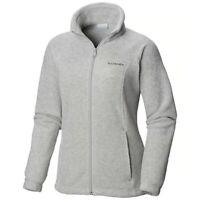 Columbia Benton Springs women's full zip gray Fleece Jacket plus size 1X nwt