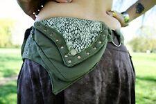 GREEN SNAKE Utility Belt - Festival Belt Hippy Fanny Pack Pocket Belt Psy Trance