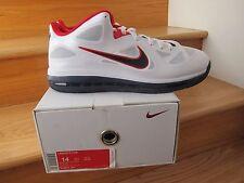 Nike Lebron 9 Low USA White Blue Red size 14