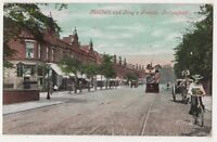 Manchester, Mabfield & Kings Parade Fallowfield Tram Postcard B640
