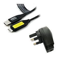 Genuine Samsung digital camera charger & lead, Modela PL, ES, NV, ST & many more