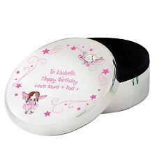 TOOTH FAIRY GIFT IDEA Personalised Jewellery Trinket Box Girls Birthday Present
