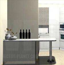 wall sticker 4 adesivi bottiglia vino wine enoteca vetrine cucina happy hour