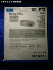Sony Service Manual DSC P73 Level 2 Digital Still Camera (#6146)
