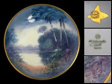 Antique Pickard Hutschenreuther Hand Painted porcelain plate, Signed, 1912-1918