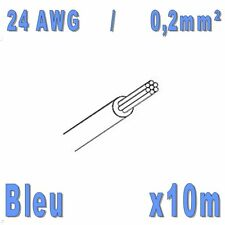 Fil de cablage 24AWG / 0,2mm² Bleu 10m