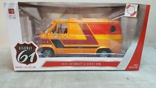 HIGHWAY 61 1:18 1976 CHEVROLET - G-SERIES CHEVY VAN  in ORANGE - IN STOCK !!!!