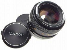 CANON FD mount 55mm 1:1.2 super fast 35mm SLR camera coated lens 1.2/55mm rare