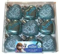 Pack Of 9 Disney Frozen Baubles Anna Elsa Shatterproof Christmas Tree Decoration