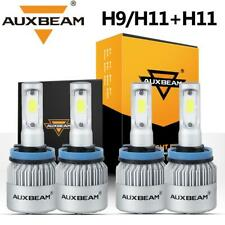 4PCS AUXBEAM H9 H11 LED Headlight Bulbs for Toyota Tacoma 2016-19 High Low Beam