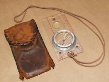 Vintage Silva Boy Scouts of America BSA Map to Field Compass In Leather Pouch