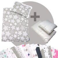 Bettwäsche-Set 4-tlg. für Kinderwagen Babybett Decke+Kissen+Füllung (STARS 5)