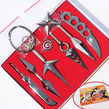 Naruto Shippuden 7Pcs Box Set Hatake Kakashi Deidara Kunai Figure Weapon Cosplay