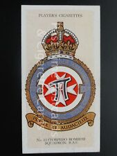 Single No.15 ROYAL AIR FORCE, TORPEDO BOMBER SQD XXII BADGES No Motto Player1937