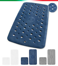 Tappeto piatto doccia vasca VENTOSE ANTISCIVOLO tappetino bagno gomma ANTIMUFFA
