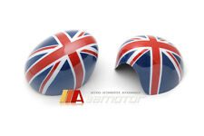 Red Union Jack UK Flag Side View Mirror Cover Caps for 14-16 Mini Cooper F55 F56