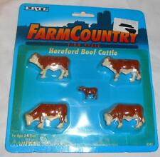 Ertl Farm Country 1/64 Hereford Beef Cattle Set dated 1995