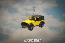 Yellow Custom 2015 Jeep Wrangler Willys Wheeler Christmas Ornament 1/64 SUV NEW