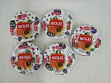 """5 x 34 Count NIB Solo Cup AnyDay 6.785"""" Paper Plate Packs (170 plates total)"""