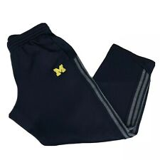 ADIDAS Michigan University Wolverines Blue ClimaWarm Warm Up Pants Men's Large L