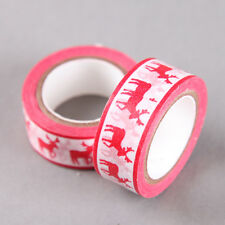 Red Reindeer Christmas Washi Tape | Paper Tape | Red Washi Tape