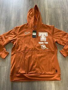 Nike Therma On-Field Texas Longhorns Men's Size XL Hoodie Orange $85 CU1285-802