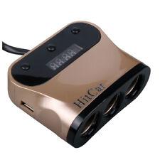 1 To 3 Car Cigarette Lighter Socket Power Adapter Splitter for Phone DVR Charger