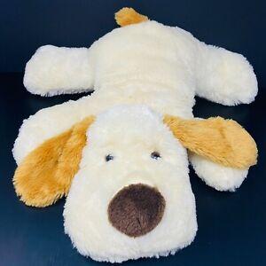 "Dan Dee Cream Dog Plush Pillow 22"" Floppy Jumbo Stuffed Laying Down FAST SHIP"