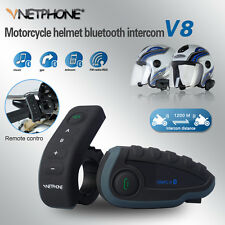 V8-1200M 5 Riders BT Bluetooth Motorcycle Helmet Interphone Intercom Headset New
