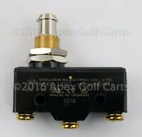 Golf Cart Brake Pedal Micro Switch 3-Terminal Plunger-Style For Club Car & EZGO