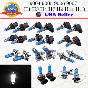 9005 9006 9007 H3 H4 H7 Xenon Headlight Halogen White Hi/Low Beam Fog Light Bulb