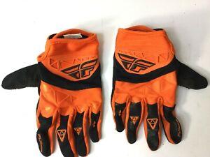 Fly Racing Motocross Gloves Orange - Size 10
