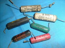 SPRAGUE 6TM-D10 CAPACITOR .001 MF 600 VDC and 5 other mixed Caps / l2